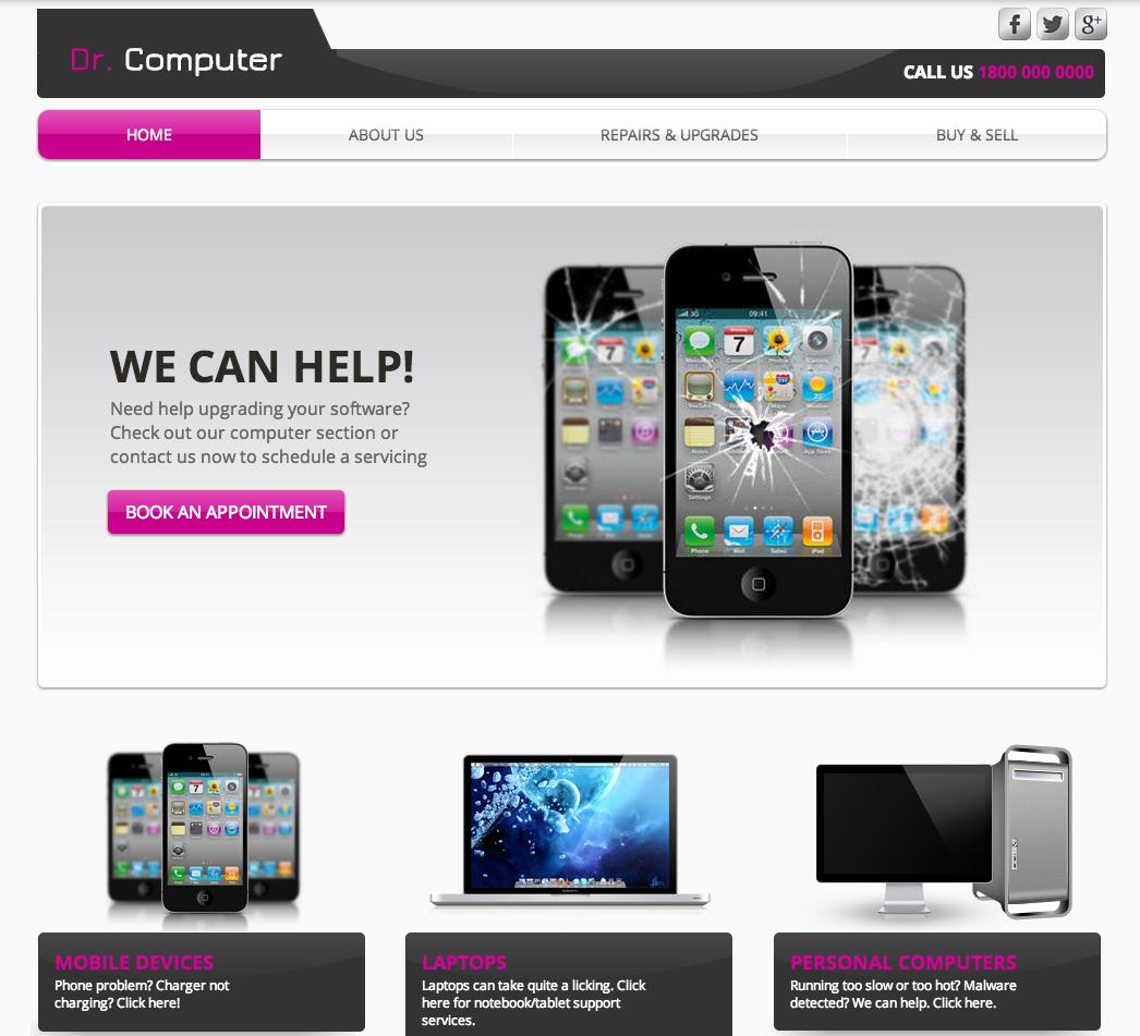 1 Computer Repair - Homepage.png