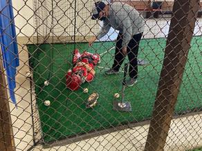 Coach berates catcher