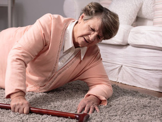 Dementia increases the risk of falling.