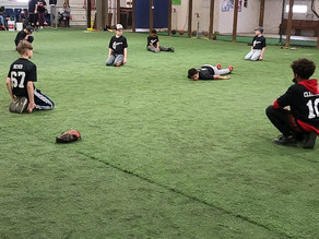 Player collapses during workout