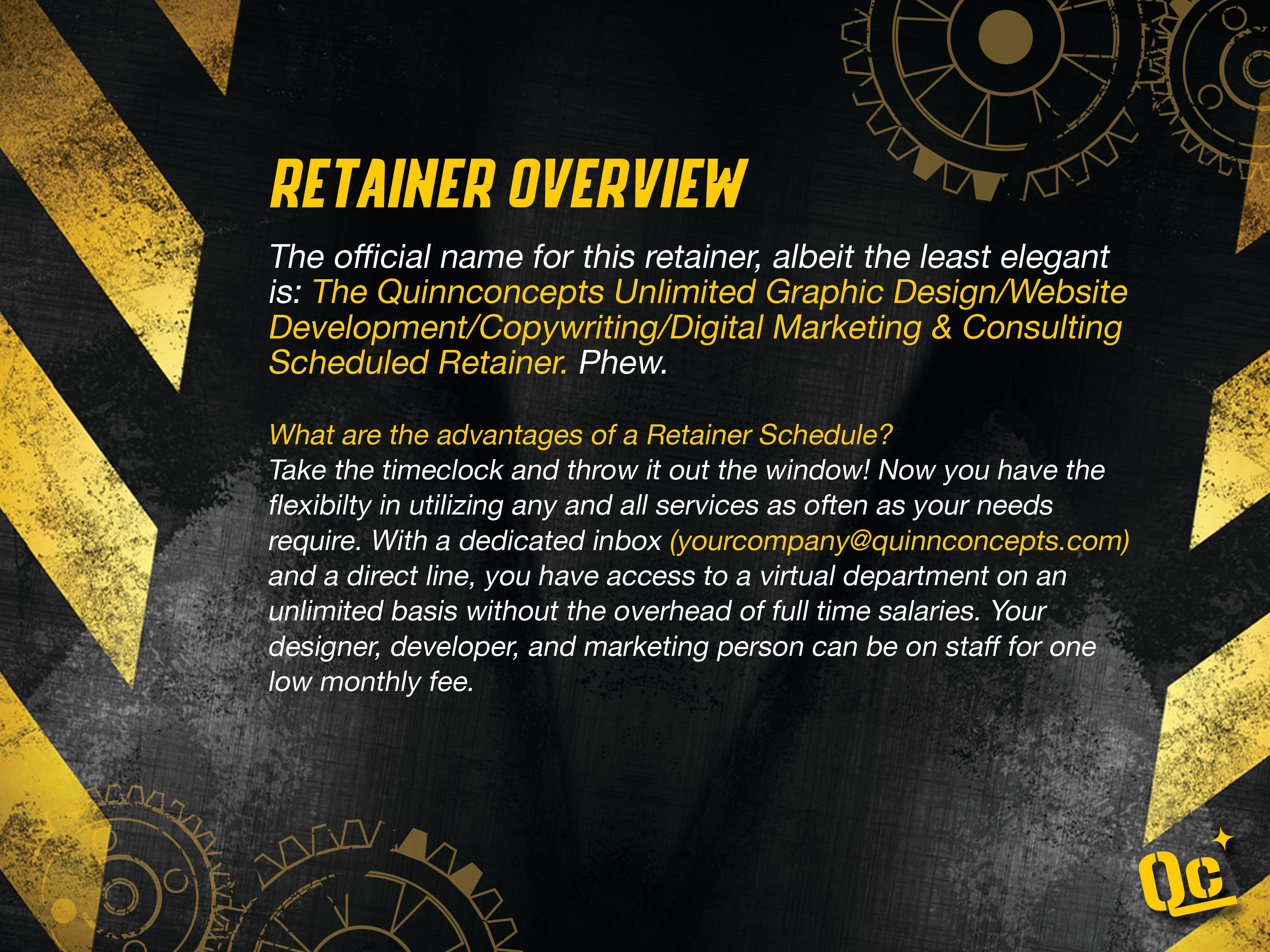 slide 2 - retainer overview