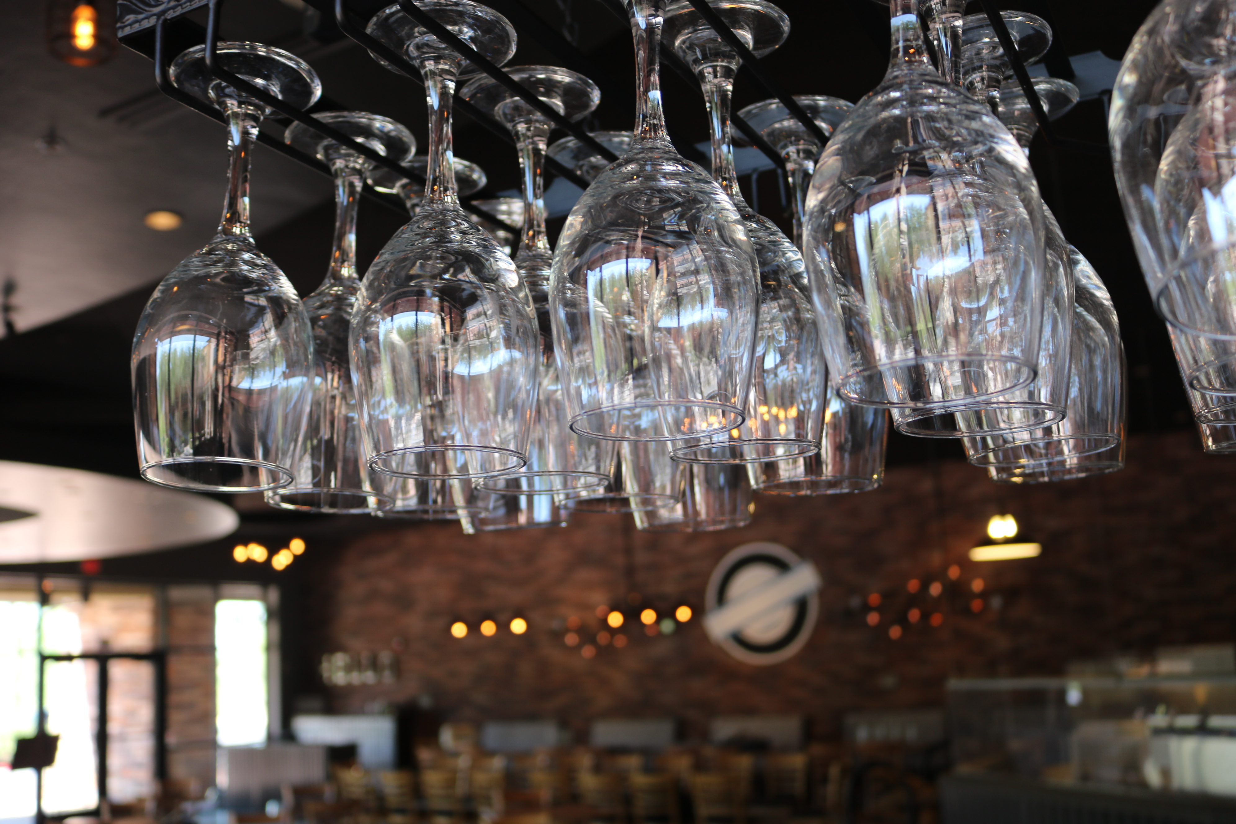 Hanging Mosaic of Chablet Glasses