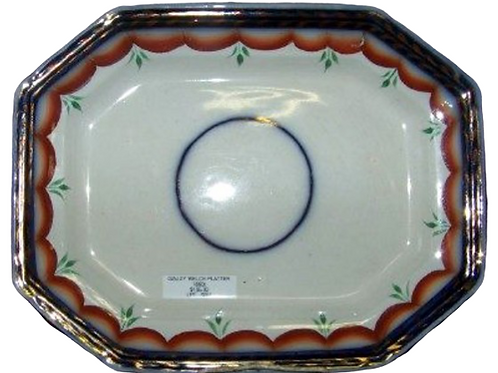 SMALL GAUDY WELCH PLATTER IN BLUE RED & GREEN