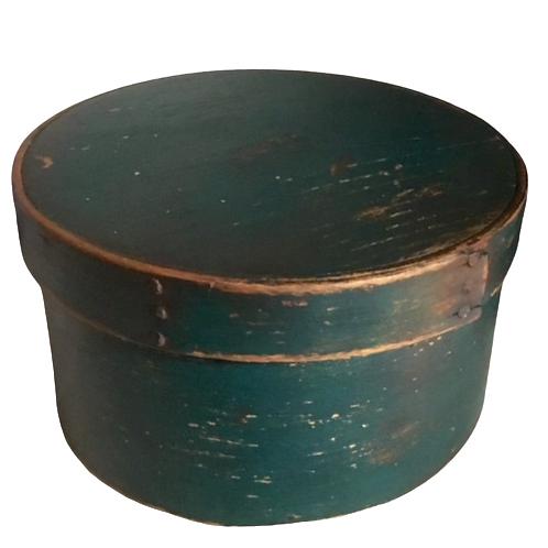 Round blue green pantry box