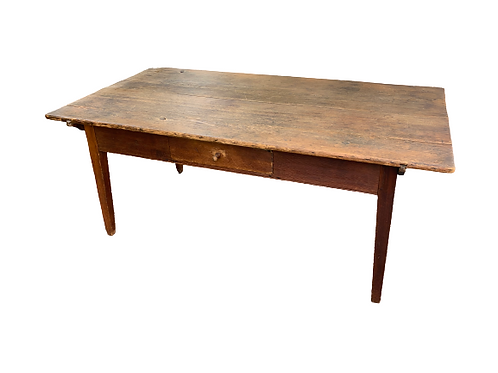 Pine two board pin top farm table