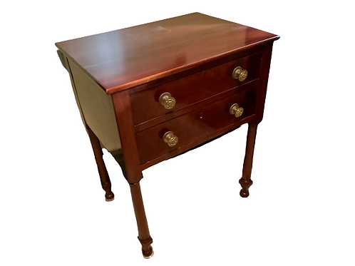 CLASSICAL MAHOGANY TWO DRAWER WORK TABLE