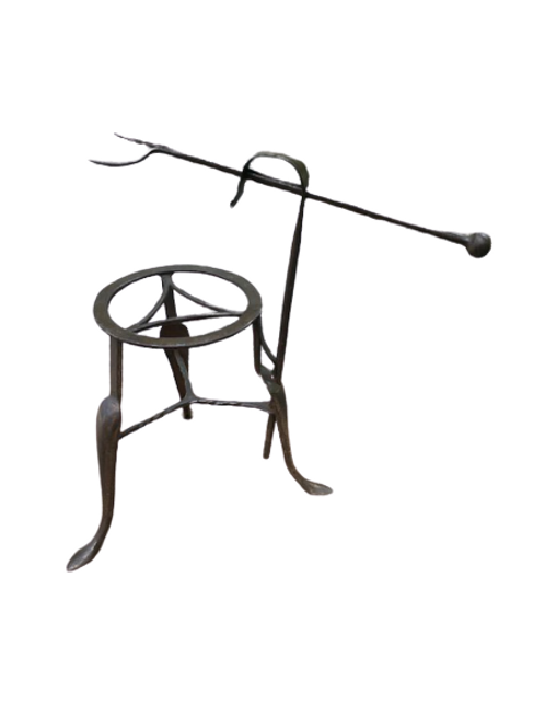 Steel roster with fork and stand
