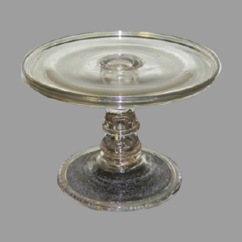 HAND BLOWN PITTSBURGH GLASS CAKE COMPOTE