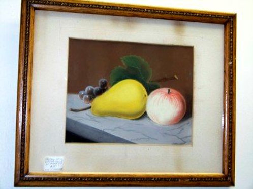 PASTEL STILL LIFE OF FRUIT