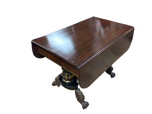 CLASSICAL MAHOGANY DROP LEAF BREAKFAST TABLE