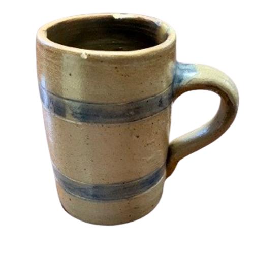 Stone ware mug with blue