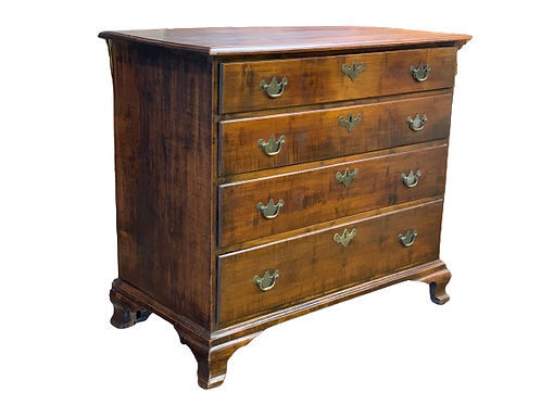 Country Tiger Maple Chippendale Chest