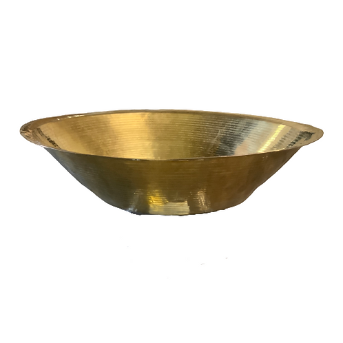 HAND TURNED BRASS BOWL