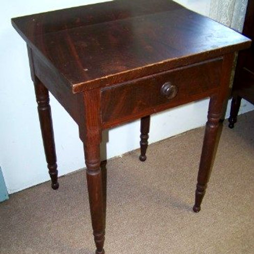 WONDERFUL COUNTRY FEDERAL PAINT DECORATED ONE DRAWER STAND