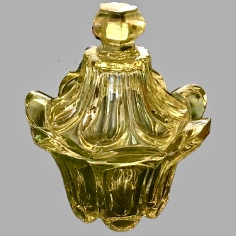 Pittsburgh glass covered sugar bowl