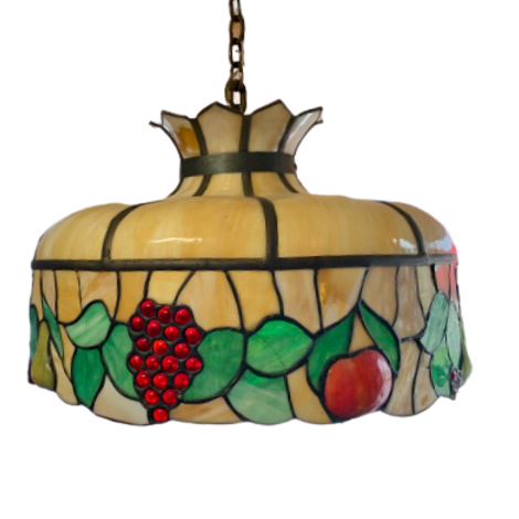 : Stained glass hanging lamp shade