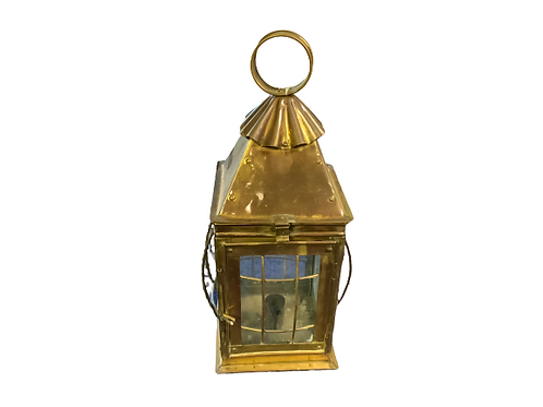Brass candle lantern with glass
