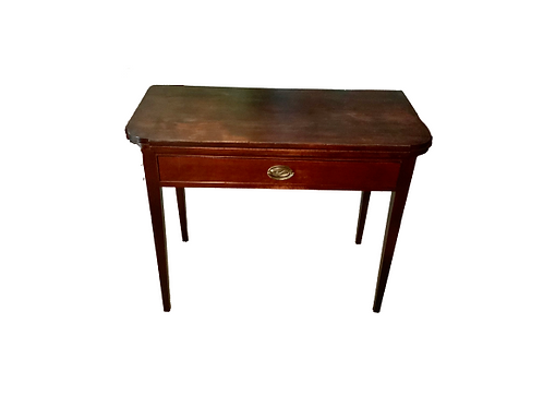 Federal Hipplewhite Birch card table in old red wash finish
