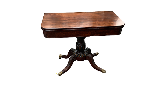 BOSTON MAHOGANY CLASSICAL CARD TABLE