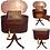 Thumbnail: Federal mahogany Tambour sewing and writing table