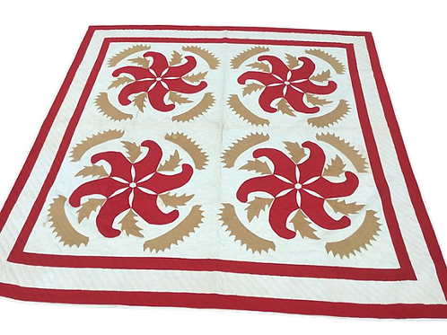 Princess feather quilt with great colors 19th. century