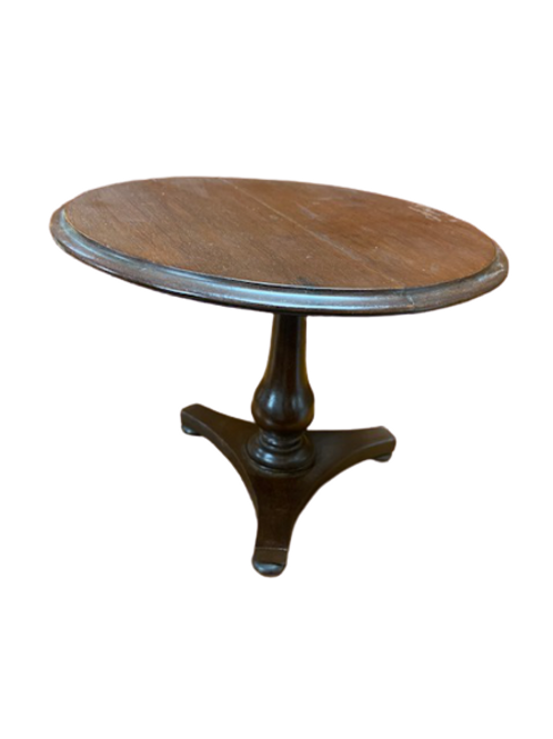 MINIATURE MAHOGANY TILL - TOP TABLE