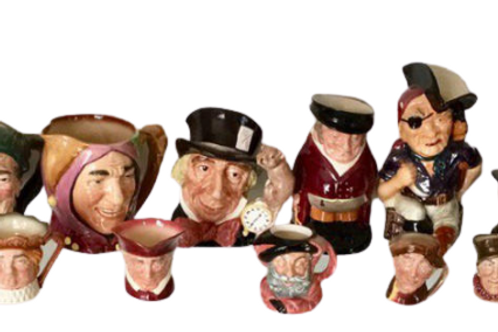 Set of 16 Toby mugs with one has some damage