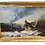 Thumbnail: Landscape oil painting on canvas in gold frame winter scene 19th. century