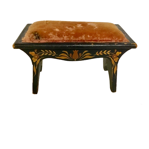 PAINT DECORATED FOOT STOOL