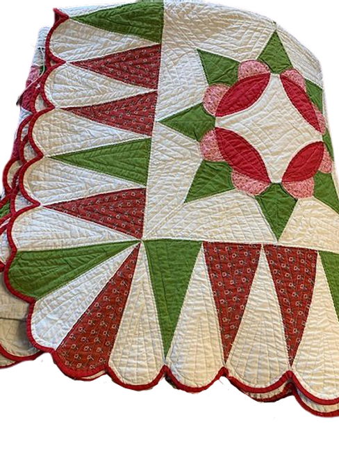 Harvest sun quilt with great colors & border