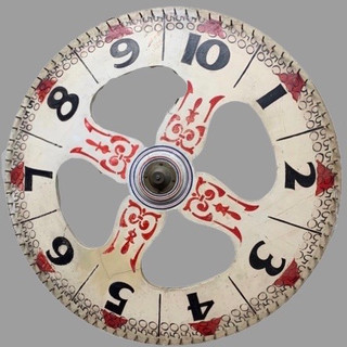 Paint decorated game wheel C.1900s $695.00