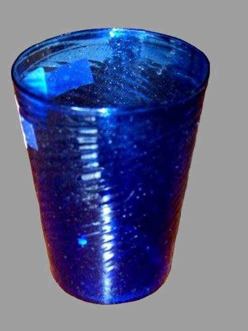 SANDWICH GLASS BLUE FLIP