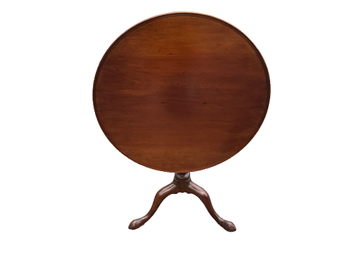 MAHOGANY QUEEN ANNE MOLDED DISH TOP BIRDCAGE TILT-TOP