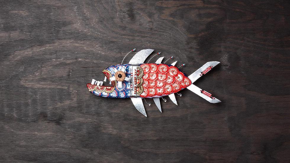 Wiggle Wort Bottle Cap Fish