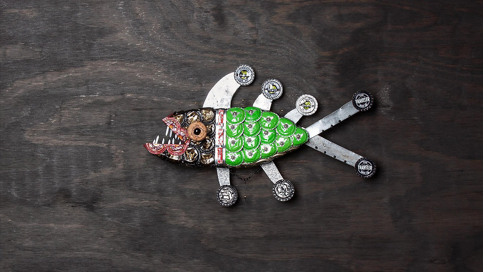 Mike Wazowski Bottle Cap Fish
