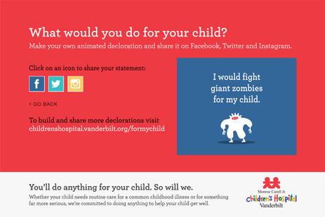 Interactive digital ad screen #3