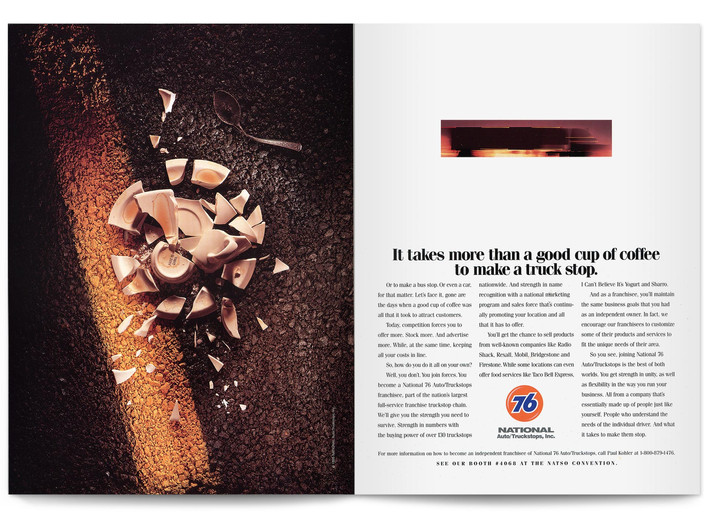 1995 National Auto Truckstops Print Ad Agency: The Buntin Group, Nashville Writer: Tom Cocke
