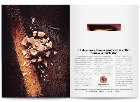 1995 National Auto Truckstops Print Ad Agency: The Buntin Group, Nashville Writer: Tom Cocke
