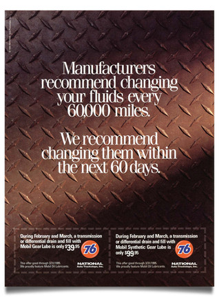1995 National Auto Truckstops Coupon Ad Agency: The Buntin Group, Nashville Writer: Tom Cocke