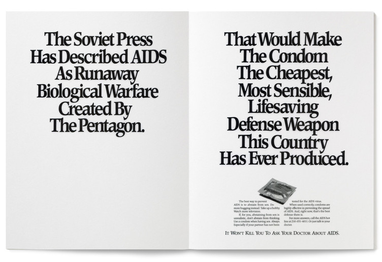 1987 Aids Awareness Print Ad Agency: Meldrum & Fewsmith, Cleveland  Writer: Jim Proimos