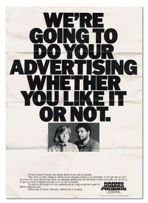 1985 Self Promotion Piece Agency: Harms Jonas & Proimos, Denver Writer: Jim Proimos