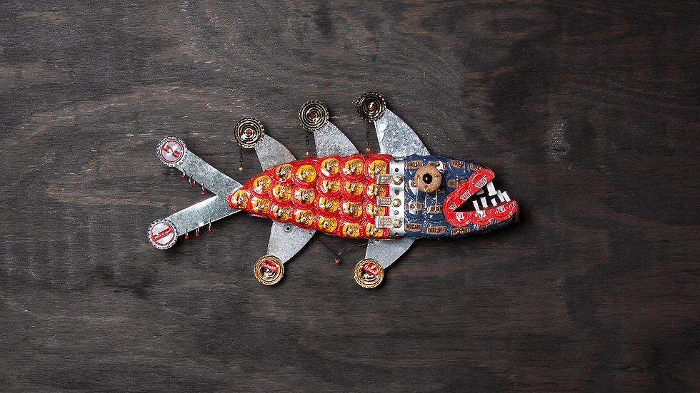 Mighty Mouse Bottle Cap Fish