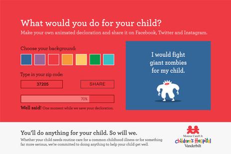 Interactive digital ad screen #2