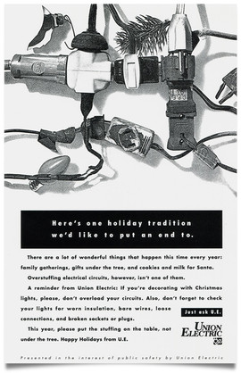 1993 Union Electric Newspaper Ad Agency: Griswold, cleveland Writer: Lane Strauss