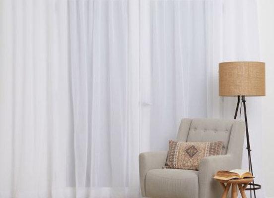 S FOLD Sheer Curtain 280cm Drop