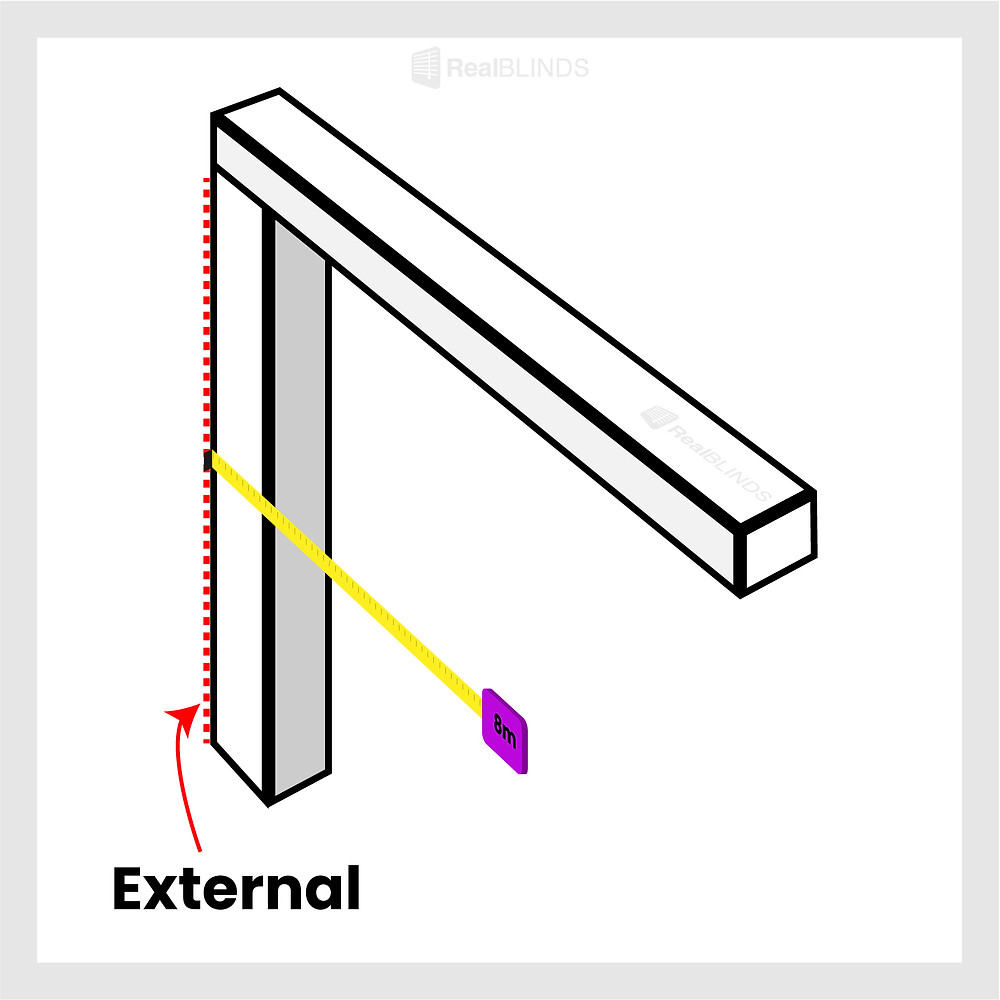 how to measure for blinds external mount   Real Blinds