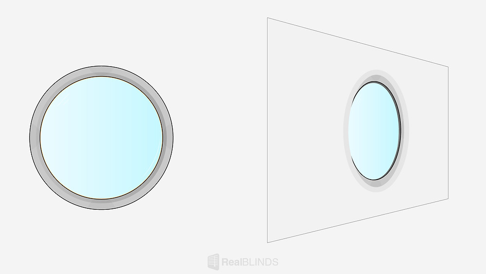 Blind For Circle Window   Real Blinds