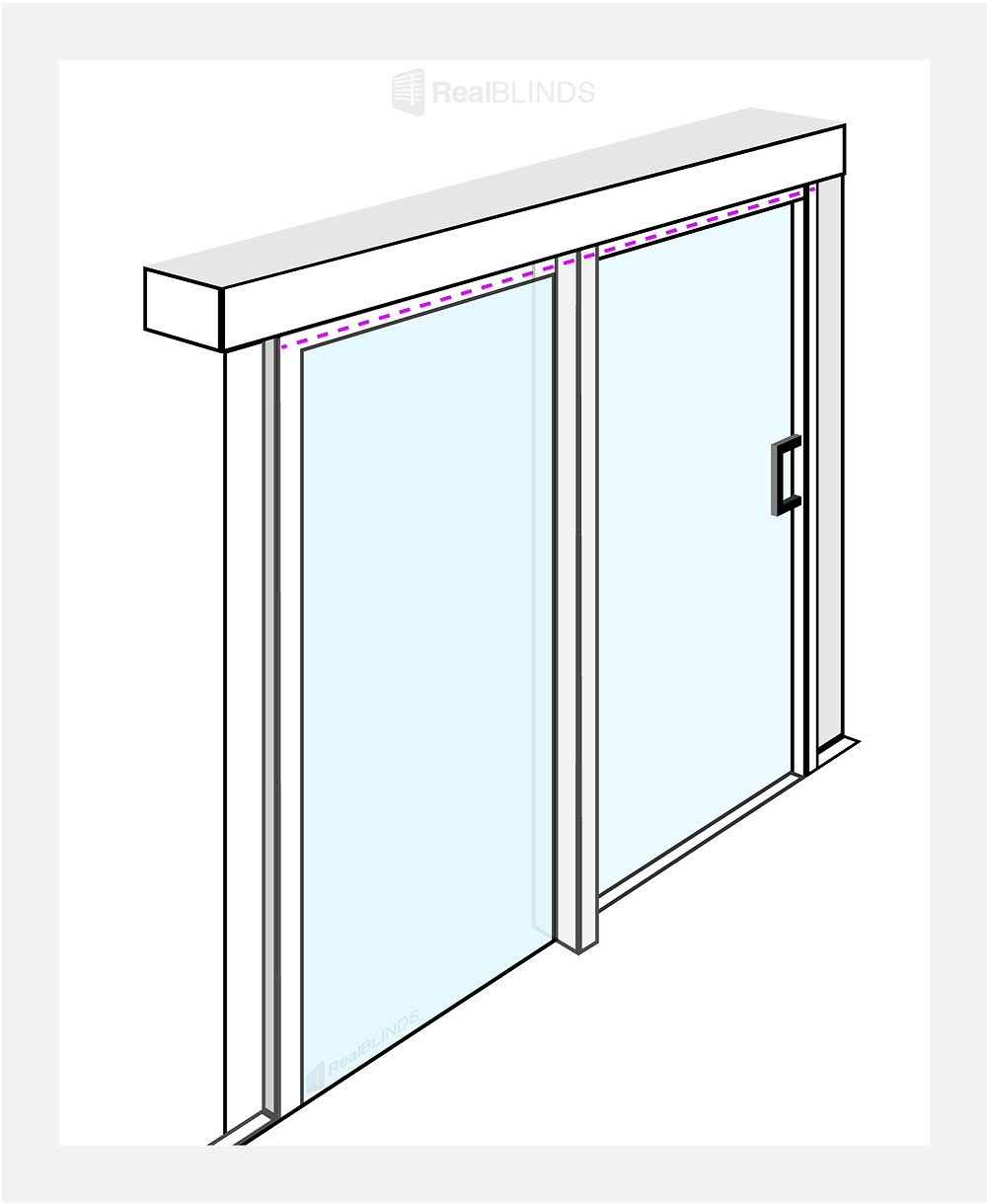 How To Measure Blinds For A Sliding Door   Real Blinds