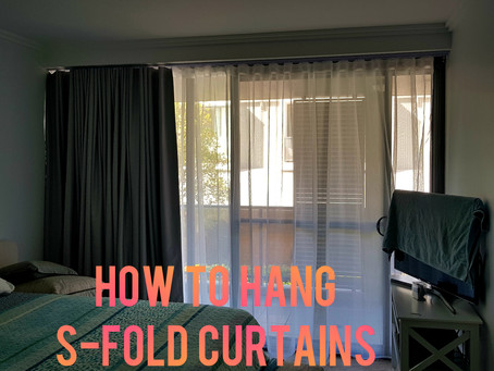 How to hang S Fold Curtains