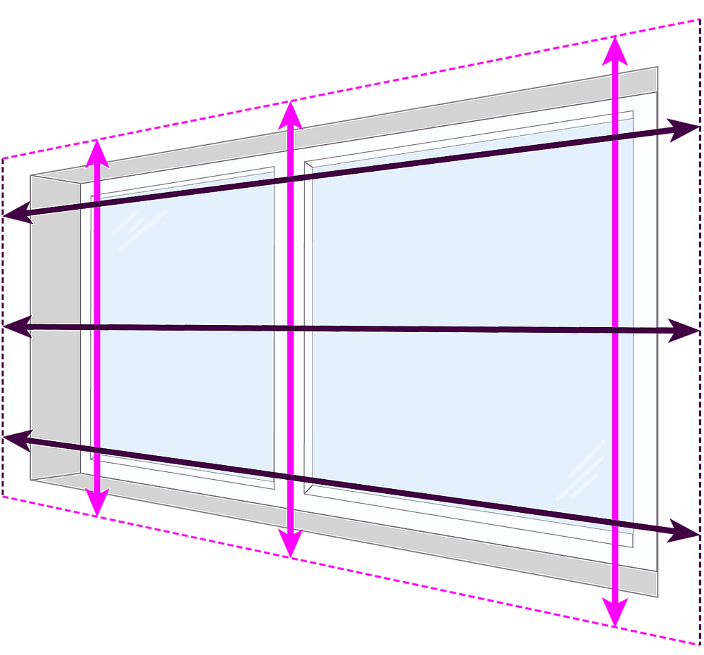 How to measure for blinds   External Mount/Outside Mount